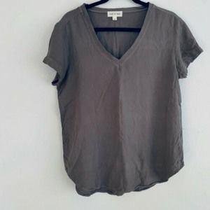 Cloth & Stone Chambray Taupe Tee Shirt
